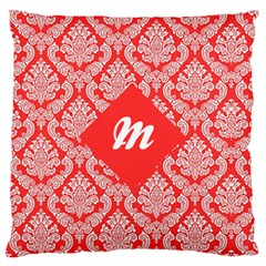 Salmon Damask Standard Flano Cushion Cases (one Side)