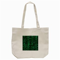 Damask2 Black Marble & Green Marble Tote Bag (cream)