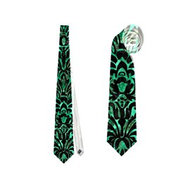 Damask2 Black Marble & Green Marble Necktie (two Side)