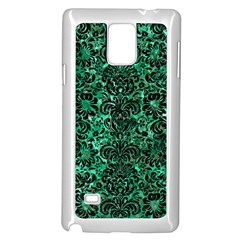 Damask2 Black Marble & Green Marble Samsung Galaxy Note 4 Case (white)
