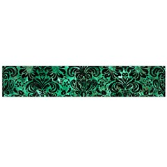 Damask2 Black Marble & Green Marble Flano Scarf (large)