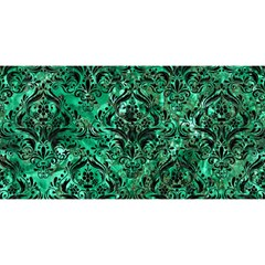 Damask1 Black Marble & Green Marble (r) You Are Invited 3d Greeting Card (8x4)