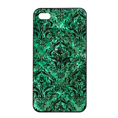Damask1 Black Marble & Green Marble Apple Iphone 4/4s Seamless Case (black)