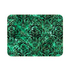 Damask1 Black Marble & Green Marble Double Sided Flano Blanket (mini)