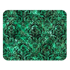 Damask1 Black Marble & Green Marble Double Sided Flano Blanket (large)