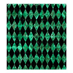 Diamond1 Black Marble & Green Marble Shower Curtain 66  X 72  (large)