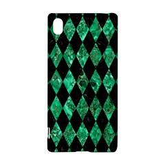 Diamond1 Black Marble & Green Marble Sony Xperia Z3+ Hardshell Case