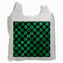 Circles2 Black Marble & Green Marble (r) Recycle Bag (two Side)