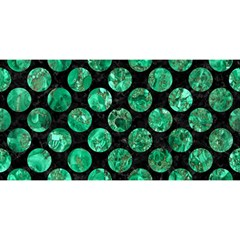 Circles2 Black Marble & Green Marble (r) You Are Invited 3d Greeting Card (8x4)
