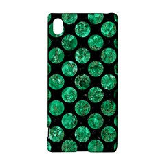 Circles2 Black Marble & Green Marble (r) Sony Xperia Z3+ Hardshell Case