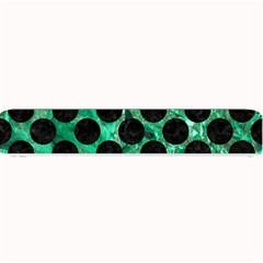 Circles2 Black Marble & Green Marble Small Bar Mat