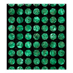Circles1 Black Marble & Green Marble (r) Shower Curtain 66  X 72  (large)