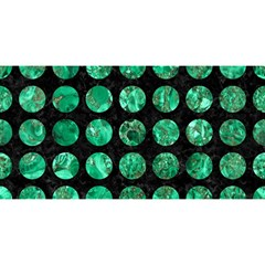 Circles1 Black Marble & Green Marble (r) You Are Invited 3d Greeting Card (8x4)