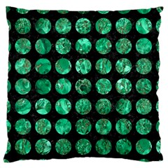 Circles1 Black Marble & Green Marble (r) Standard Flano Cushion Case (two Sides)