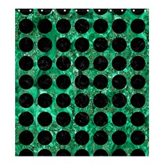 Circles1 Black Marble & Green Marble Shower Curtain 66  X 72  (large)