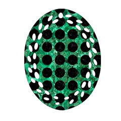 Circles1 Black Marble & Green Marble Ornament (oval Filigree)