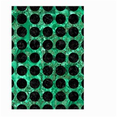 Circles1 Black Marble & Green Marble Large Garden Flag (two Sides)