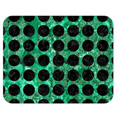 Circles1 Black Marble & Green Marble Double Sided Flano Blanket (medium)
