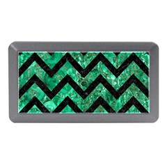 Chevron9 Black Marble & Green Marble (r) Memory Card Reader (mini)