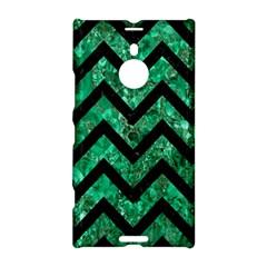 Chevron9 Black Marble & Green Marble (r) Nokia Lumia 1520 Hardshell Case