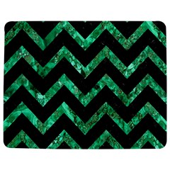 Chevron9 Black Marble & Green Marble Jigsaw Puzzle Photo Stand (rectangular)