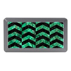 Chevron2 Black Marble & Green Marble Memory Card Reader (mini)