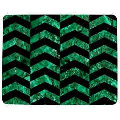 Chevron2 Black Marble & Green Marble Jigsaw Puzzle Photo Stand (rectangular)
