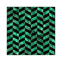Chevron1 Black Marble & Green Marble Acrylic Tangram Puzzle (6  X 6 )