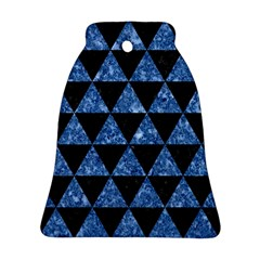 Triangle3 Black Marble & Blue Marble Ornament (bell)