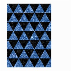 Triangle3 Black Marble & Blue Marble Small Garden Flag (two Sides)