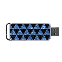 Triangle3 Black Marble & Blue Marble Portable Usb Flash (two Sides)