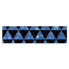 Triangle3 Black Marble & Blue Marble Satin Scarf (oblong)