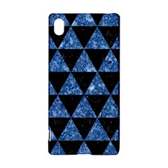 Triangle3 Black Marble & Blue Marble Sony Xperia Z3+ Hardshell Case