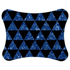 Triangle3 Black Marble & Blue Marble Jigsaw Puzzle Photo Stand (bow)