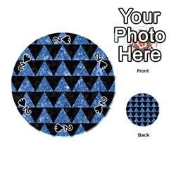 Triangle2 Black Marble & Blue Marble Playing Cards 54 (round)