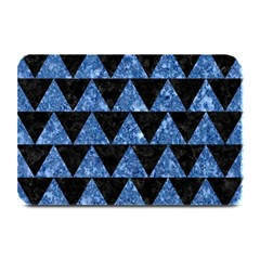 Triangle2 Black Marble & Blue Marble Plate Mat
