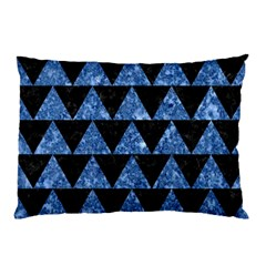 Triangle2 Black Marble & Blue Marble Pillow Case