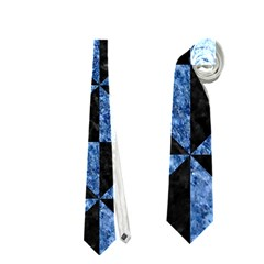 Triangle1 Black Marble & Blue Marble Necktie (one Side)