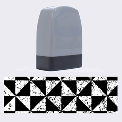 Triangle1 Black Marble & Blue Marble Name Stamp