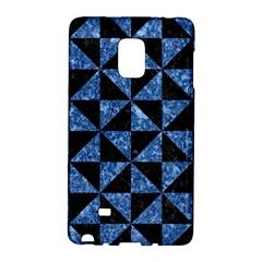 Triangle1 Black Marble & Blue Marble Samsung Galaxy Note Edge Hardshell Case