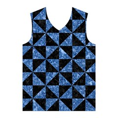 TRI1 BK-BL MARBLE Men s Basketball Tank Top