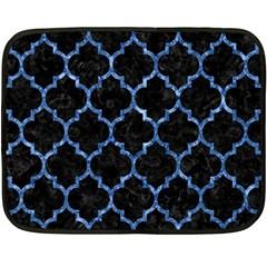 Tile1 Black Marble & Blue Marble (r) Fleece Blanket (mini)