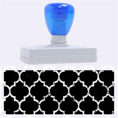 Tile1 Black Marble & Blue Marble (r) Rubber Address Stamp (xl)