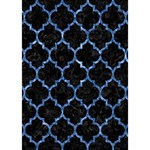 TILE1 BLACK MARBLE & BLUE MARBLE (R) Circle 3D Greeting Card (7x5) Inside