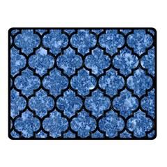 Tile1 Black Marble & Blue Marble Fleece Blanket (small)