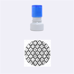 Tile1 Black Marble & Blue Marble Rubber Stamp Round (small)