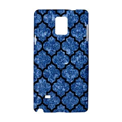 Tile1 Black Marble & Blue Marble Samsung Galaxy Note 4 Hardshell Case