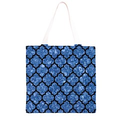 TIL1 BK-BL MARBLE Grocery Light Tote Bag