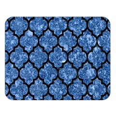 Tile1 Black Marble & Blue Marble Double Sided Flano Blanket (large)