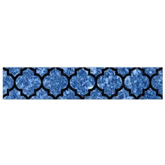 Tile1 Black Marble & Blue Marble Flano Scarf (small)